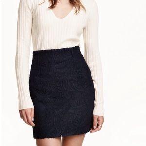 H&M Blue Lace Skirt