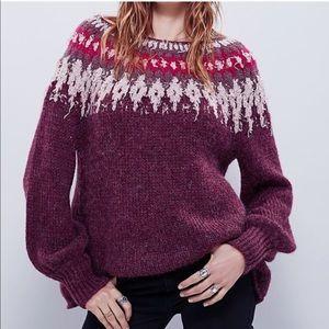 "NWT Free People""Baltic Isle Sweater"" size Large"