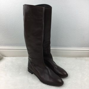 Stuart Weitzman Brown Leather Tall Boots size 12