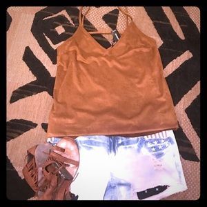 NWT ADORABLE EXPRESS SUEDE TOP -