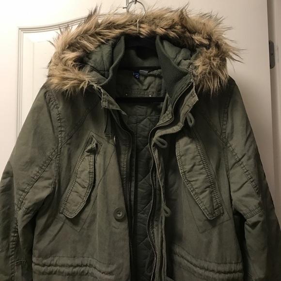 Mens Military Fur Parka