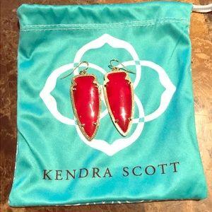 Kendra Scott Red Skylar Earrings