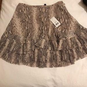 Snake patterned chiffon skirt