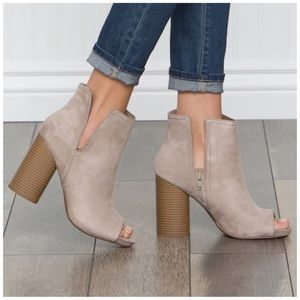 Shoes - *CLEARANCE*  New size 5.5 Faux Suede booties