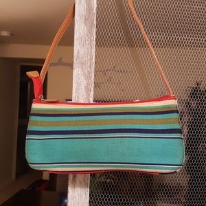 Canvas Stripe Mini Bag