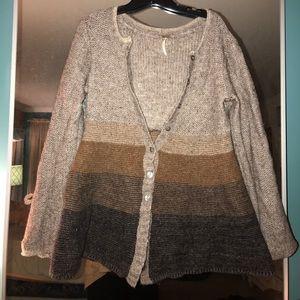FP color block long sleeve sweater