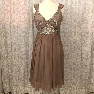 Stenay beaded silk dress