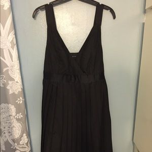 The Limited black pleated dress