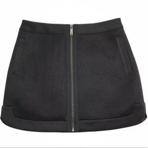 Ted Baker London Black Mesh Mini Skirt Pockets