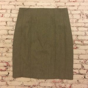 Size 8 Express Gray Pleated Back Pencil Skirt