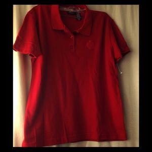 NWOT Liz Sport Polo Shirt RED Size 14