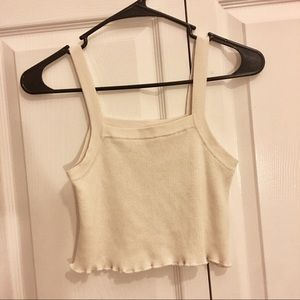 Urban outfitters kimchi blue cream knit crop top