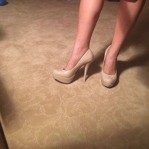 Creme colored high heel