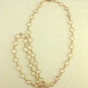 Beautiful gold plated and crystal necklace