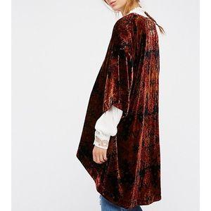 Free People velvet kimono cardigan