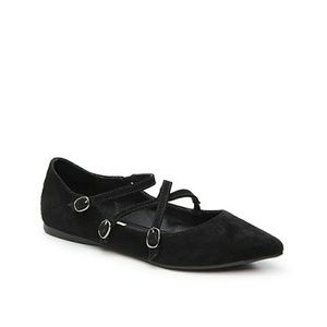 Steve Madden Edggy Suede Pointed Toe Flats/Shoes