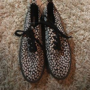Platform floral sneakers
