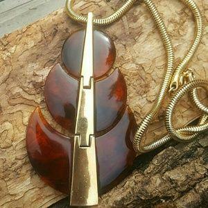 Trifari rare Lucite modernist necklace