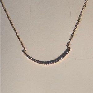 14k necklace with CZs