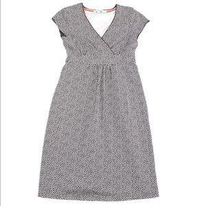 Boden Casual Jersey Dress Greige Dot Cross Over