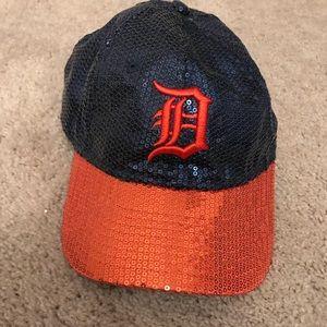Victoria Secret Sequin Detroit Tigers baseball hat