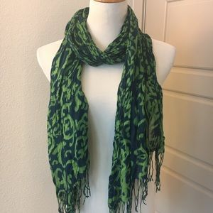 Merona Floral Scarf in Blue and Green
