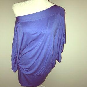 BCBG MAXAZRIA Blue Banded Modal Tunic Dress! Sz S!