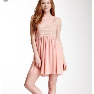 American Apparel Sleeveless Lace Chiffon Dress