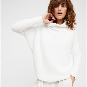Free People Ottoman Slouchy Tunic in White