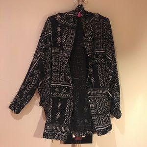 Oversized sweater jacket