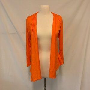 S2 Days Orange Open Lightweight Draped Cardigan