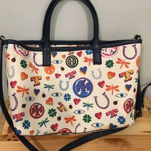 "NWOT TORY BURCH ""LUCKY"" KERRINGTON CROSSBODY TOTE"