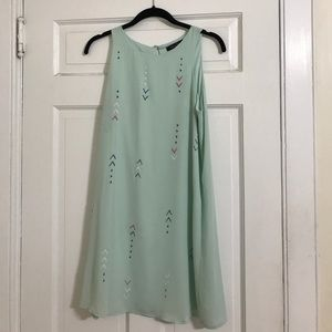 Honey Punch Mint Green Shift Sleeveless Dress