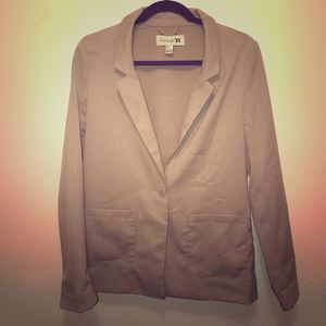 Forever 21 Tan Blazer Jacket