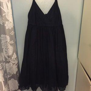 JCREW Navy blue garden dress
