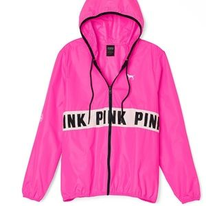 VS Pink Windbreaker Worn once !!