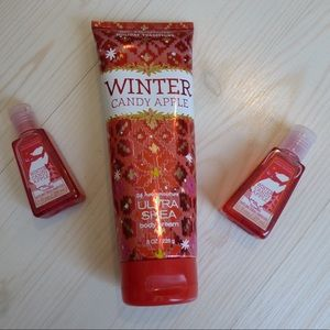 New Bath and Body Works Winter Candy Apple Cream +