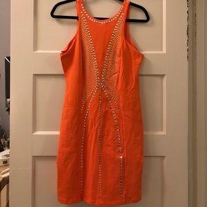 bebe bodycon Low back embellished dress