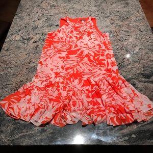 NWOT Covington 16 tropical drop waist dress