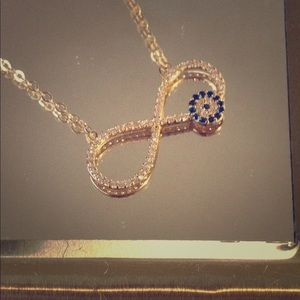 Infinity charm with necklace in 14k