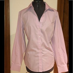 Brooks Brothers Lavender V- neck Button Down Sz 14