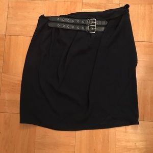 Black asymmetrical mini from The Kooples