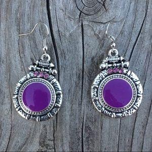 🆕List! Purple Silver Tibetan Earrings! NEW!