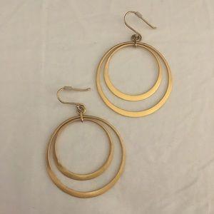 Banana Republic gold hoop earrings