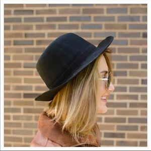 NWT Jack + Lucy Bicoastal Wide Brim Hat - Black