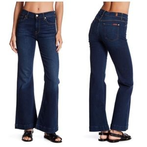 7 FOR ALL MANKIND TAILORLESS GINGER WIDE LEG JEANS