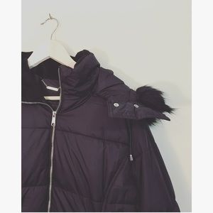 NWT A.N.A Black Winter Jacket Sz XL Down + Fur