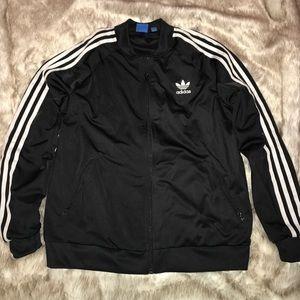 Adidas black track jacket large
