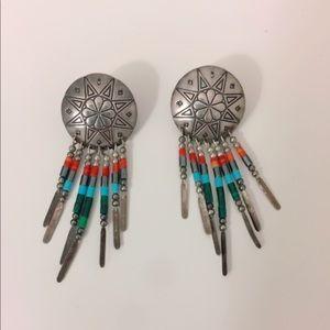 Sterling Silver pierce earrings Indian silver