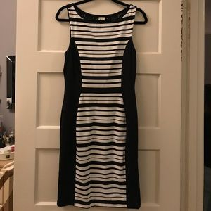 Flattering Anthropologie striped lace dress